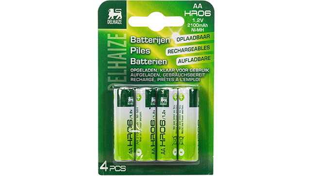 Piles rechargeables AA 2100 mAh