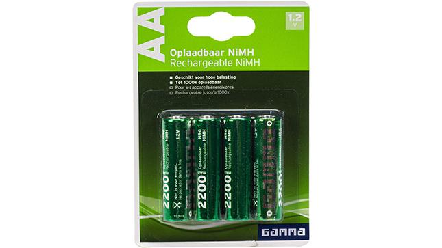 Piles srechargeables NiMH batterijen AA