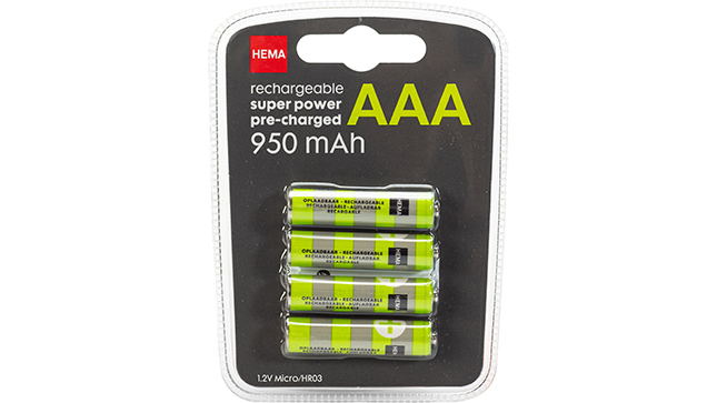 Super  power Pre-charged AAA 900 mAh