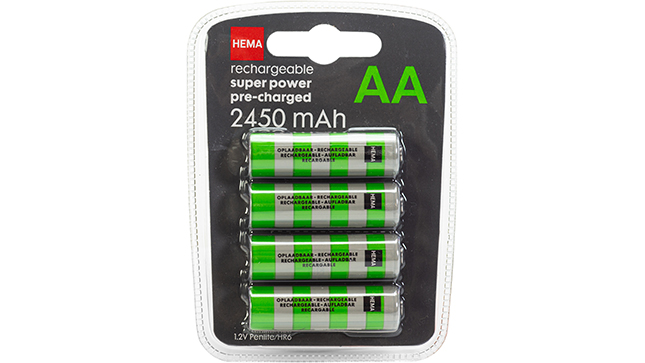 Super  power Pre-charged AA  2450 mAh