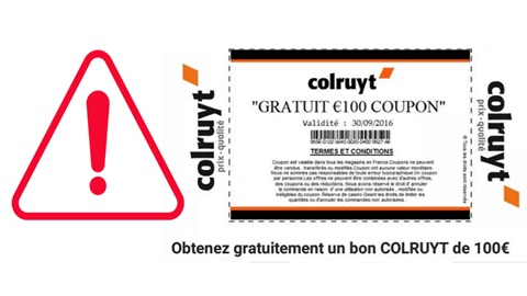 Coupon Colruyt faux