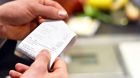 Ticket de caisse plus cher au supermarché