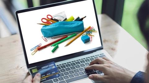 Fournitures scolaires commandées en ligne