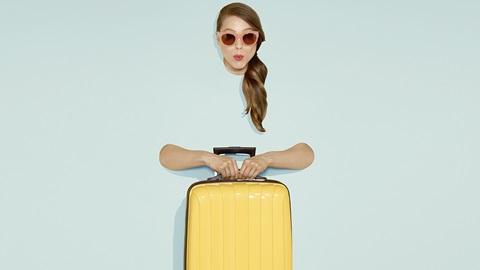 Vacancière et valise