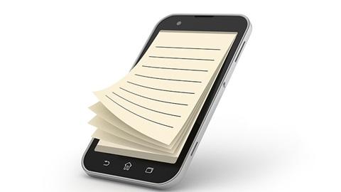 bloc-note smartphone gsm
