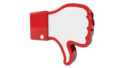 pouce facebook vers le bas