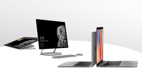 MacBook Pro Microsoft Surface Studio