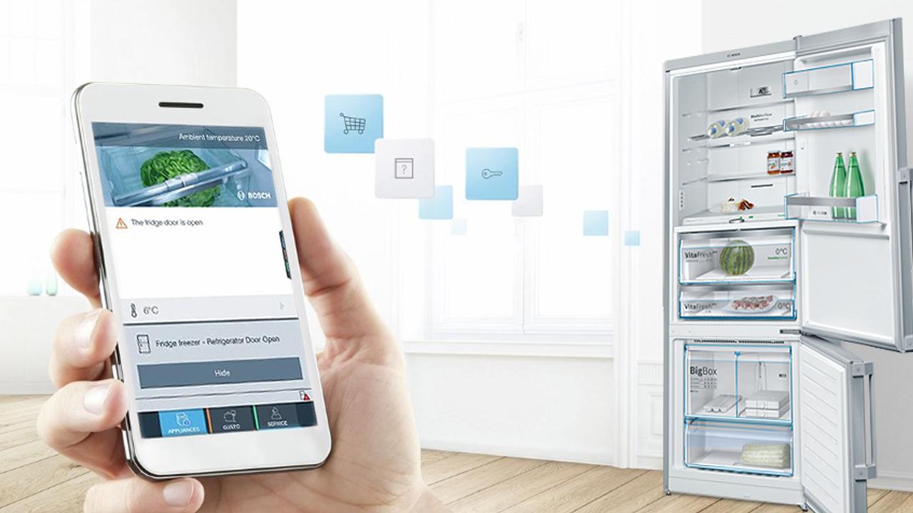le réfrigérateur de bosch facilite l'achat et la conservation des