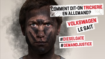 Action dieselgate Visage noircit par la pollution