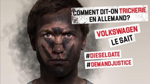 Action dieselgate Visage noircit par la pollution