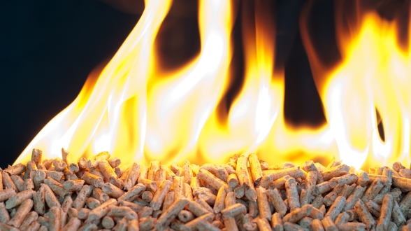 Combustion de pellets