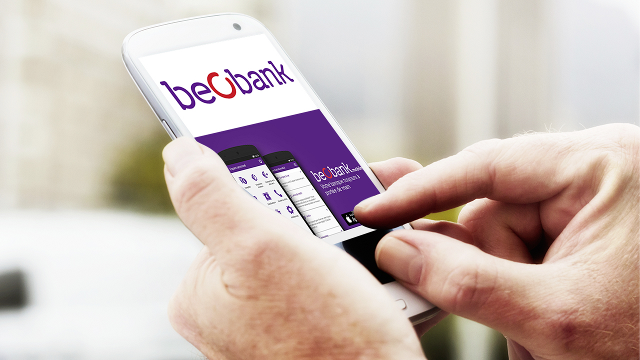 Application m-banking aussi chez Beobank